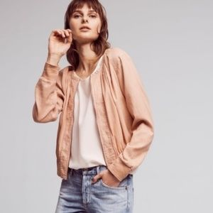Hei Hei Peach Blush Hilltop Ruched Bomber Large